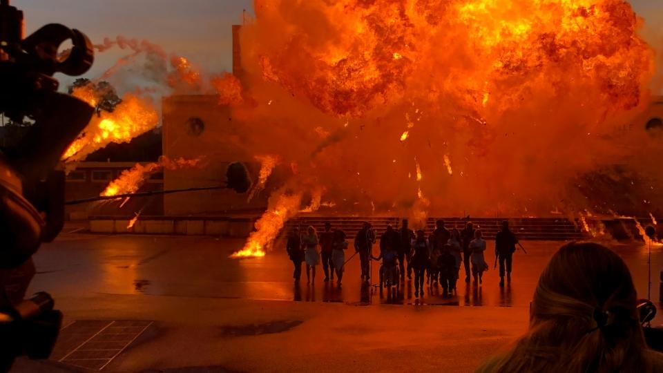 Beim Filmdreh für «Mad Heidi» gibt es spektakuläre Explosionen