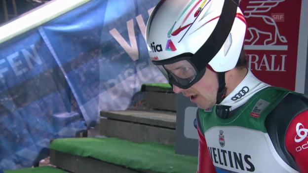 Video «Skispringen: Vierschanzentournee, 4. Springen in Bischofsbofen, Simon Ammann» abspielen