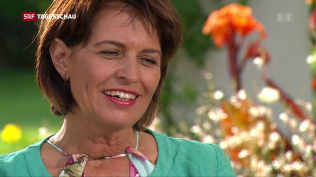 Video «Doris Leuthard tritt spätestens im Herbst 2019 ab» abspielen