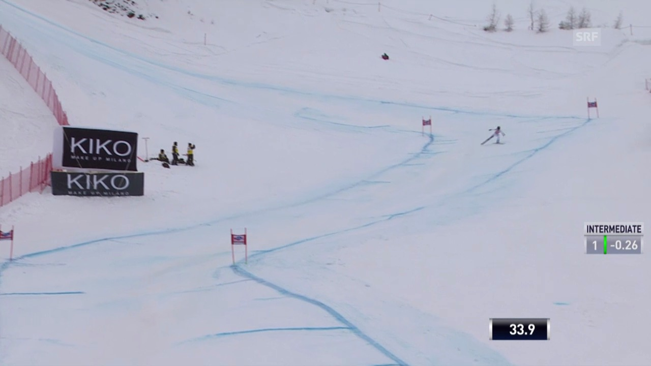 Ski: Weltcup, Abfahrt Crans-Montana, Fahrt von Gut