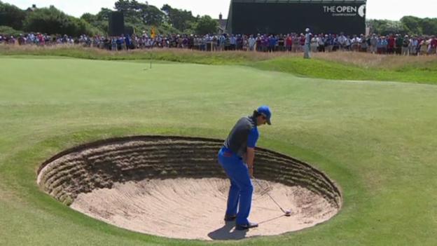 Video «Golf: Rory McIlroy an den British Open» abspielen