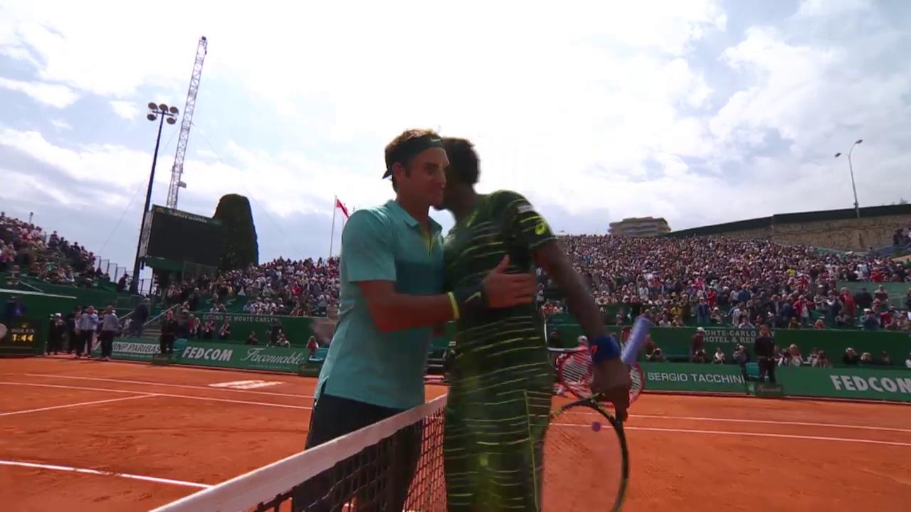 Tennis: Monte Carlo, Matchball Monfils - Federer