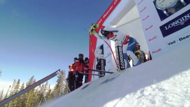 Video «Ski: Trainingsfahrt von Fabienne Suter» abspielen