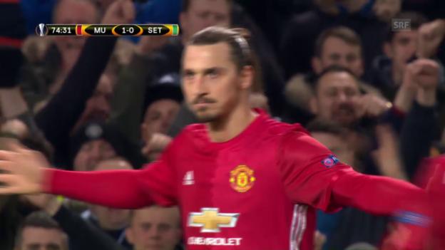 Video «Ibrahimovic schiesst Manchester United zum Sieg» abspielen