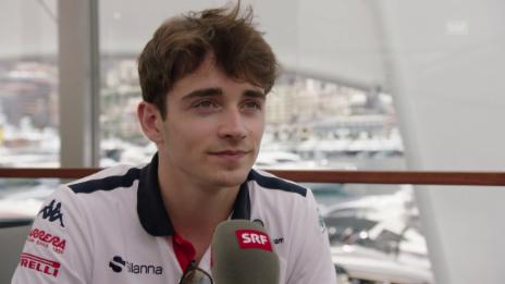 Link öffnet eine Lightbox. Video Leclerc über Monaco und seinen Vater abspielen
