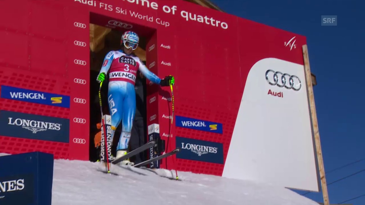 Ski Alpin: Die 1. Trainingsfahrt von Bode Miller
