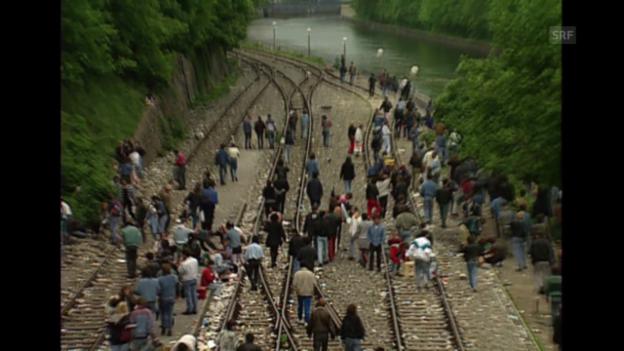 Video «Bahnhof Letten 1994» abspielen