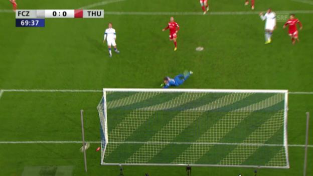 Video «Fussball: Cup-Halbfinal, Highlights Zürich - Thun («sportlive»)» abspielen