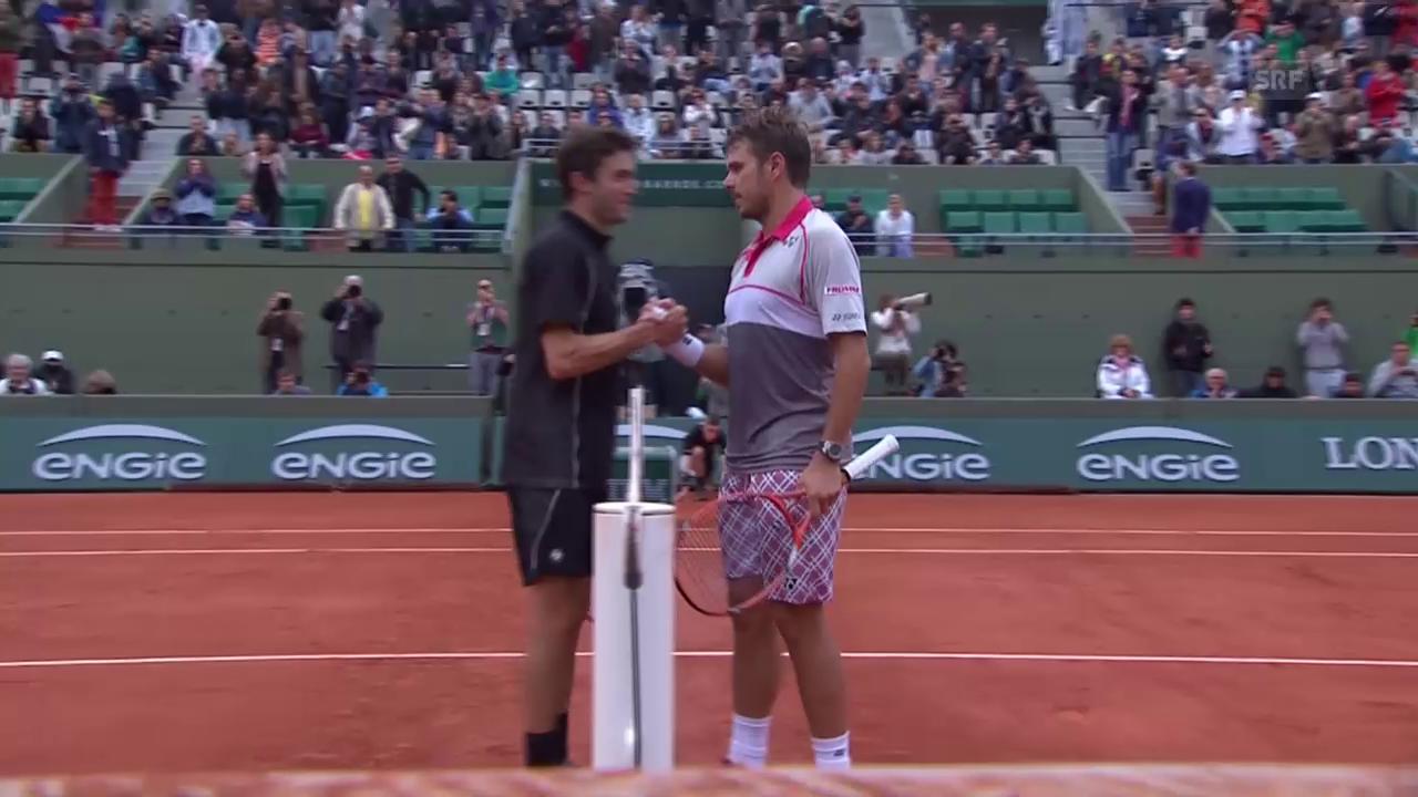 Tennis: French Open, Achtelfinal Wawrinka - Simon, entscheidende Punkte