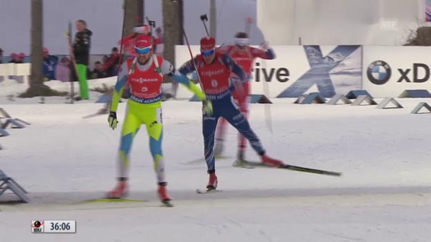 Video «Biathlon: WM in Kontiolahti, Massenstartrennen der Männer» abspielen
