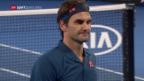 Video «Federer scheitert im Achtelfinal an Tsitsipas» abspielen