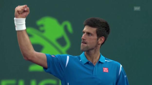 Video «Djokovic besteht in Miami den Härtetest gegen Thiem» abspielen