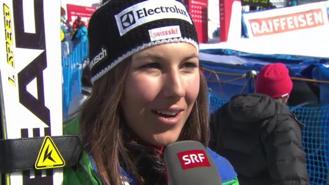 Ski: Lenzerheide, Interview mit Holdener