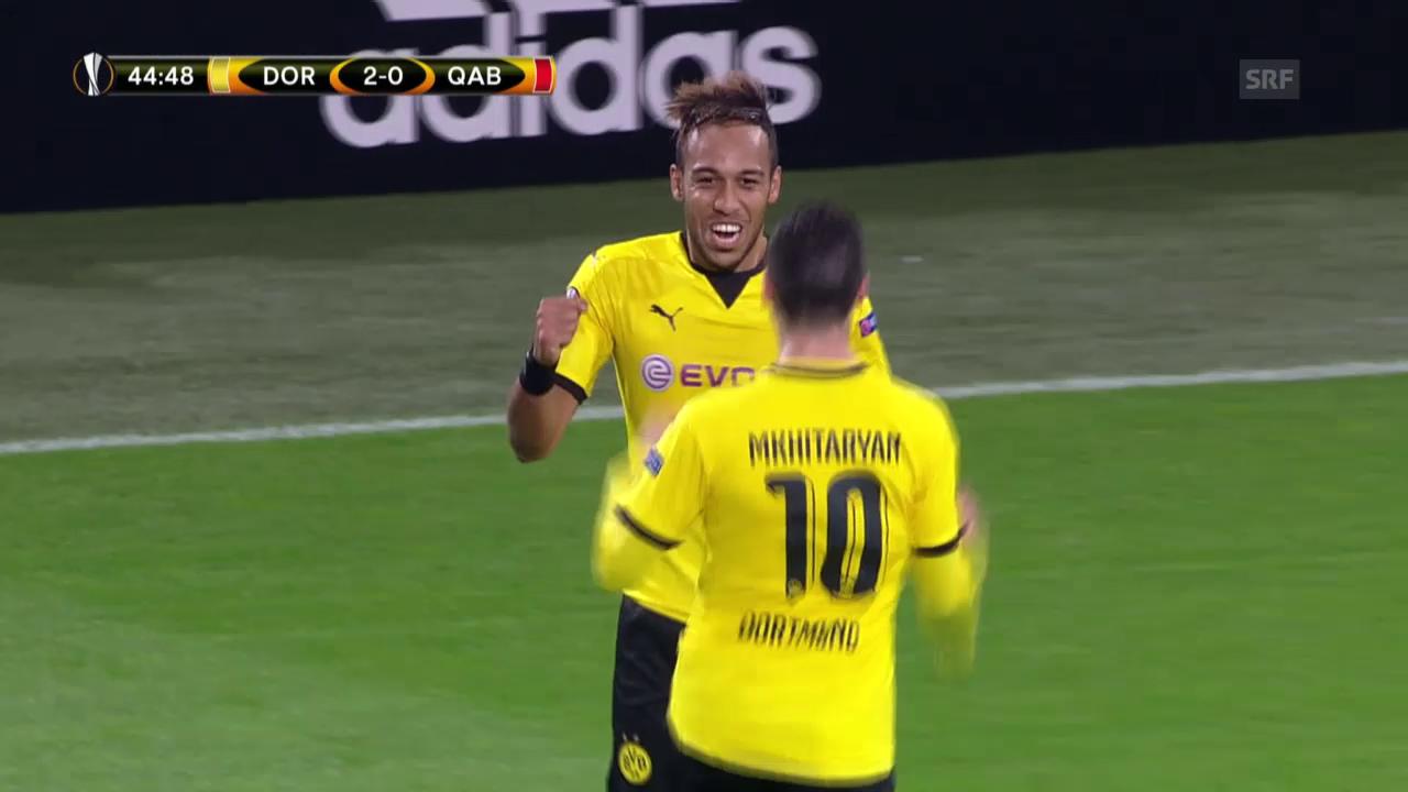 Fussball: Europa League, Dortmund - Qäbälä