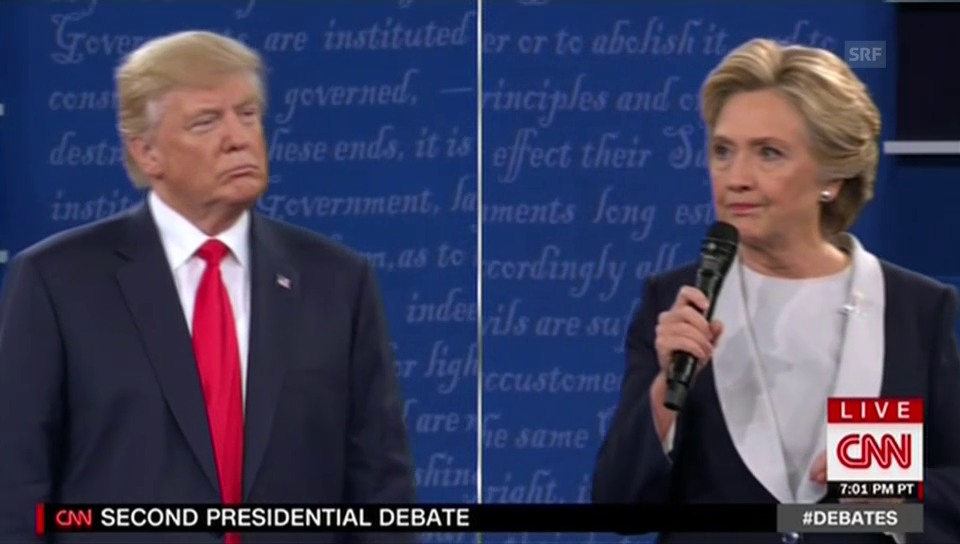 Clinton wirft Trump Einmischung Russlands vor