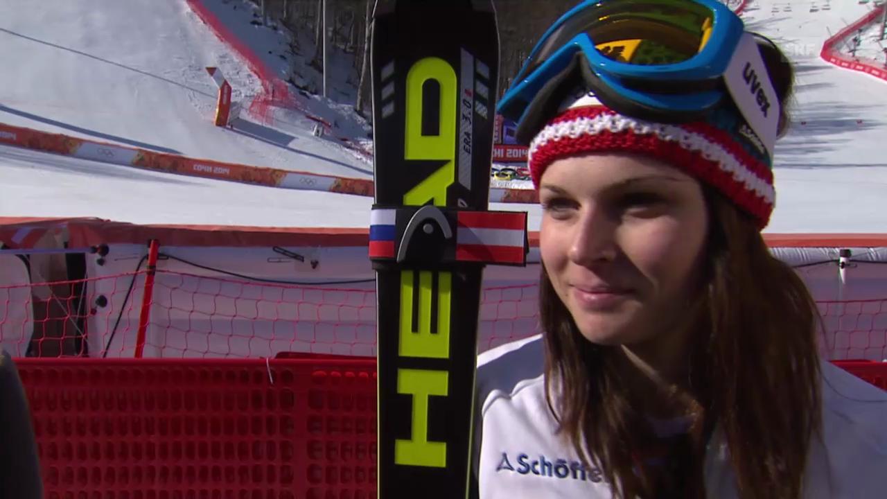 Ski Alpin: Super-G Sotschi, Interview Anna Fenninger (sotschi direkt, 15.02.2014)