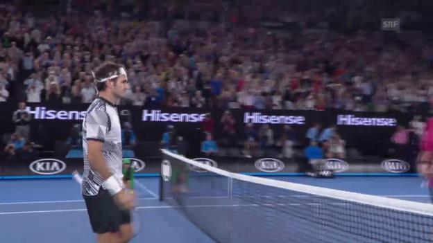 Video «Nuancen machen die Differenz: Federer schlägt Wawrinka» abspielen