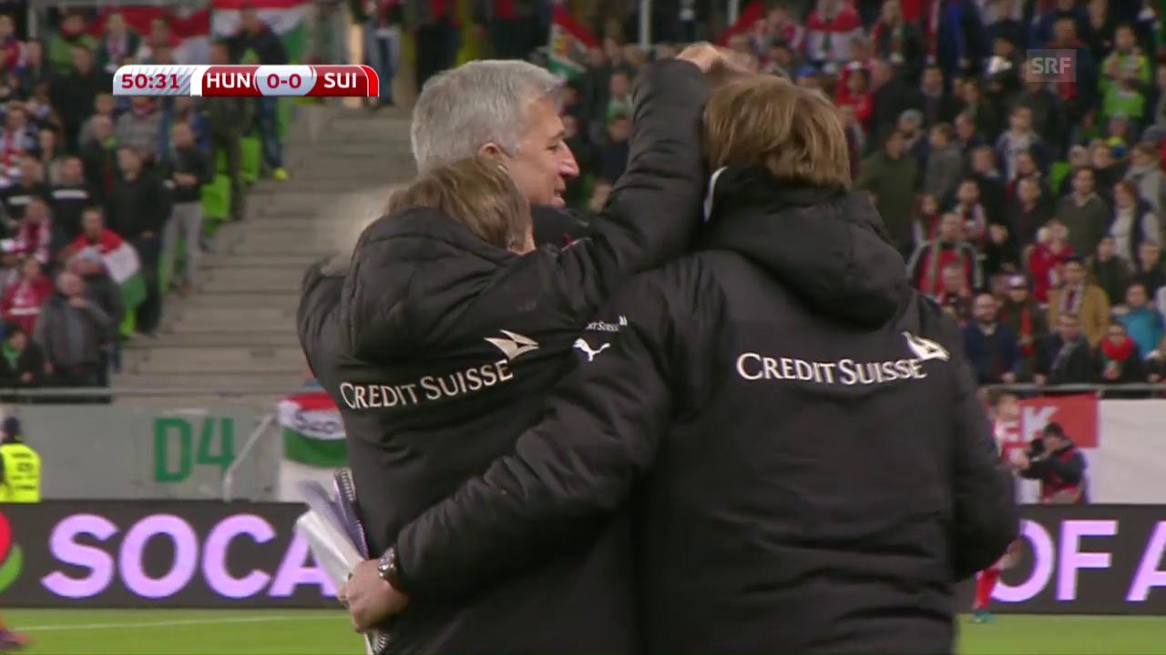 Die Live-Highlights von Ungarn-Schweiz