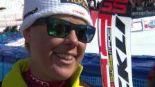 Video «Ski: Weltcup der Frauen, Abfahrt auf der Lenzerheide, Interview mit Fränzi Aufdenblatten («sportlive», 12.03.2014)» abspielen