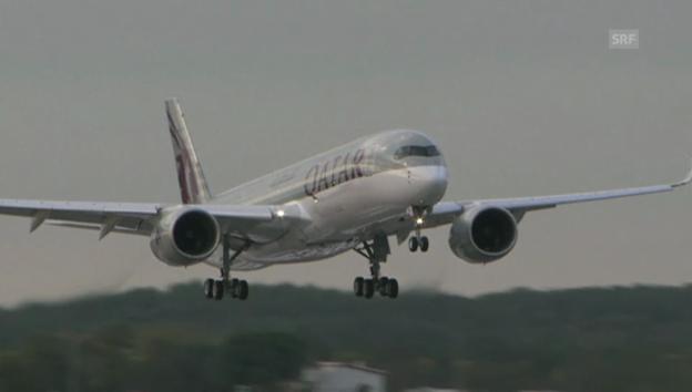 Video «Der erste A350» abspielen