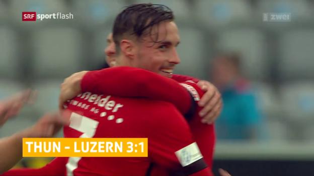 Video «Thun dank späten Toren zum Sieg» abspielen