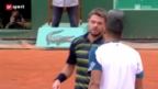 Video «Tennis: Wawrinka - Tsonga» abspielen