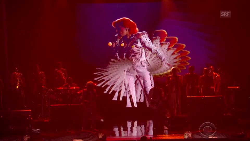 Lady Gaga als David Bowie