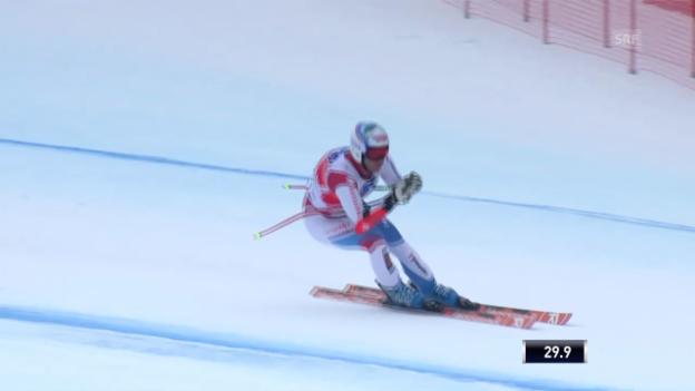 Video «Ski: Défagos Super-G-Fahrt in Gröden («sportlive» vom 20.12.13)» abspielen