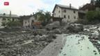 Video «Dorf Pradella nach heftigem Gewitter verwüstet» abspielen