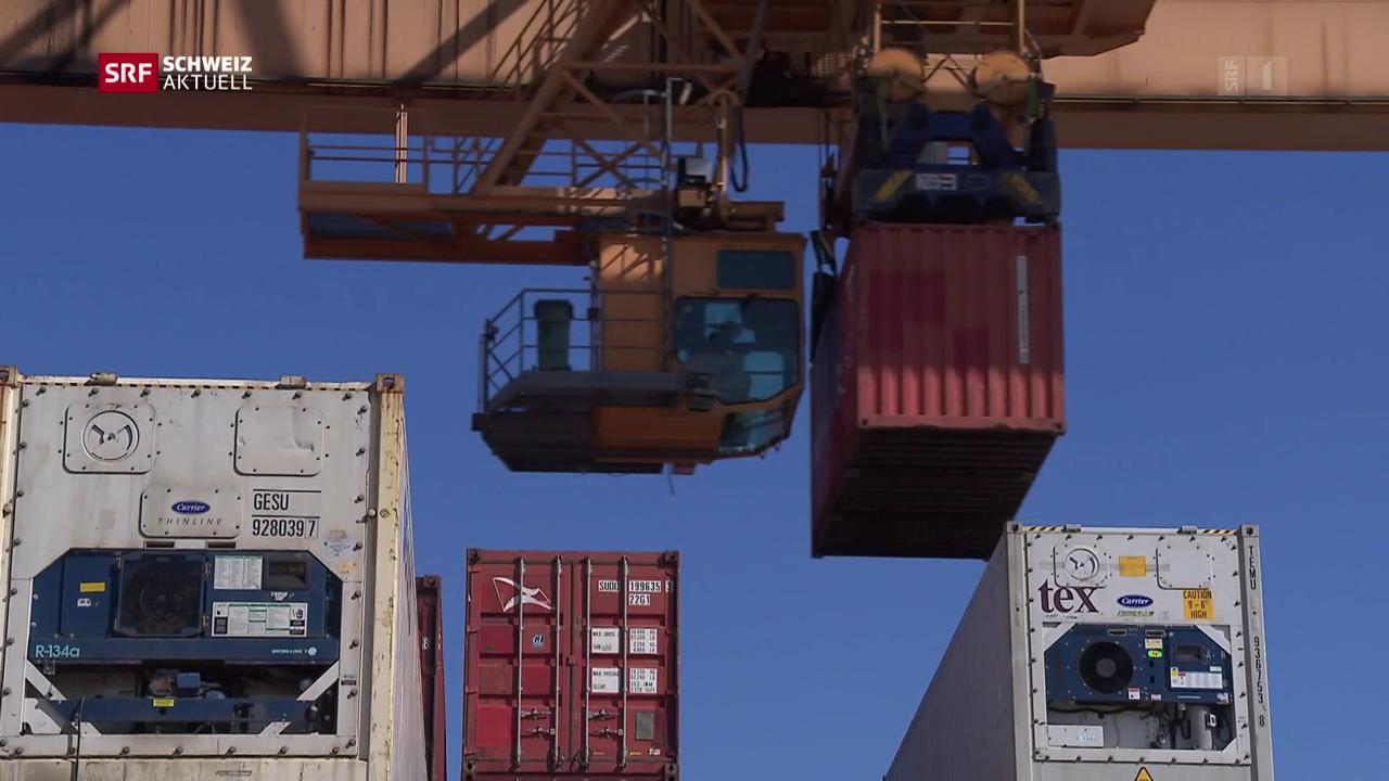 Rheinhafen im 24-Stunden-Betrieb