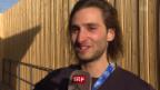 Video «Power in Pyeongchang: Snowboarder Pat Burgener gibt Konzert» abspielen
