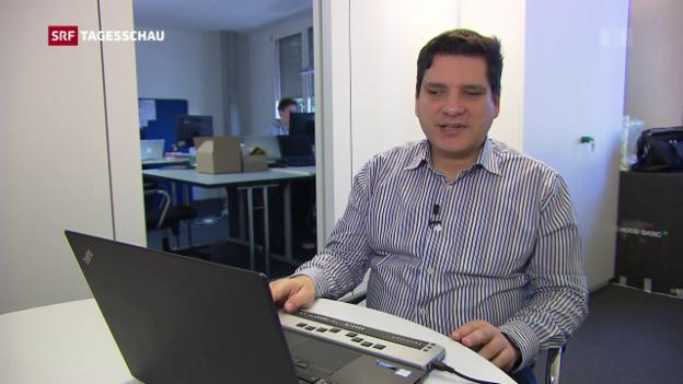 Video «Sehbehinderte haben Probleme mit der SBB-Website» abspielen
