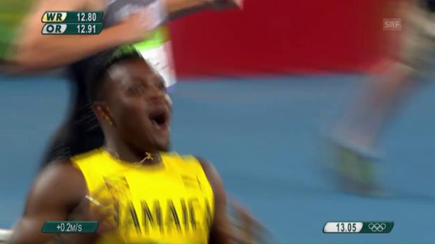 Video «Jamaikaner McLeod ersprintet sich Hürden-Gold» abspielen