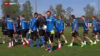 Video «Fussball: GC vor dem Spitzenspiel gegen Basel» abspielen