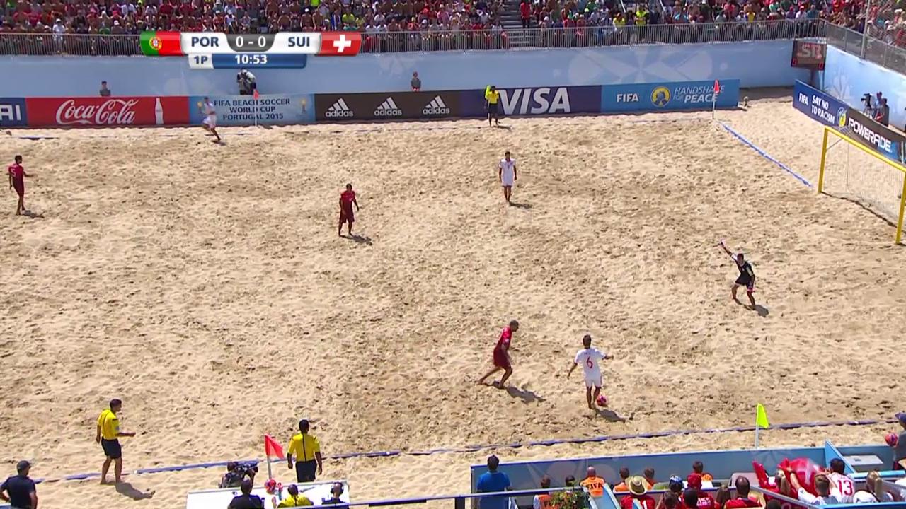 Beachsoccer: Portugal - Schweiz, 1:0 Portugal