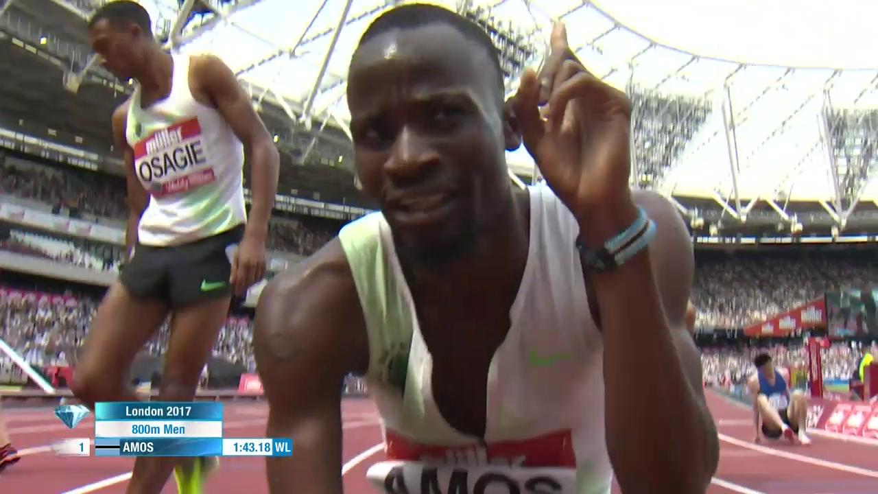 Amos gewinnt über 800 m