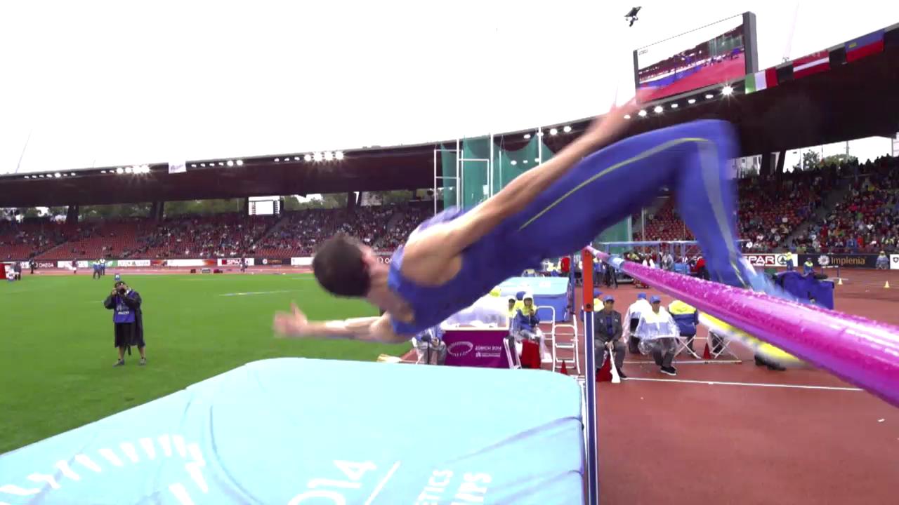 LA-EM: Bogdan Bondarenkos Sprung über 2,23 Meter