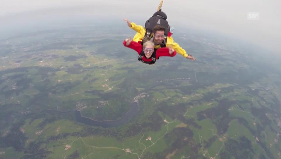 Dominique Rinderknechts Sprung aus 3000 Metern Höhe