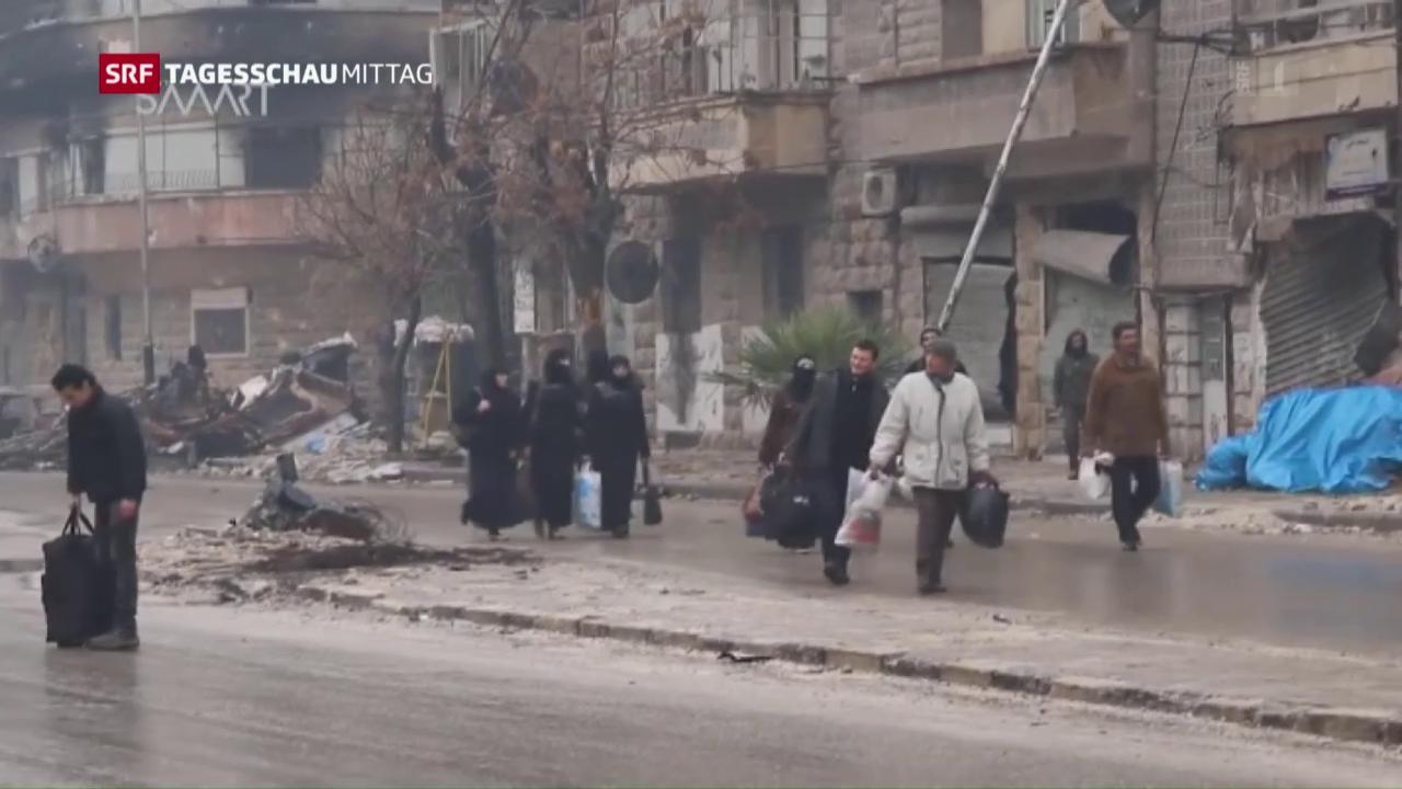 Lage in Aleppo bleibt unübersichtlich