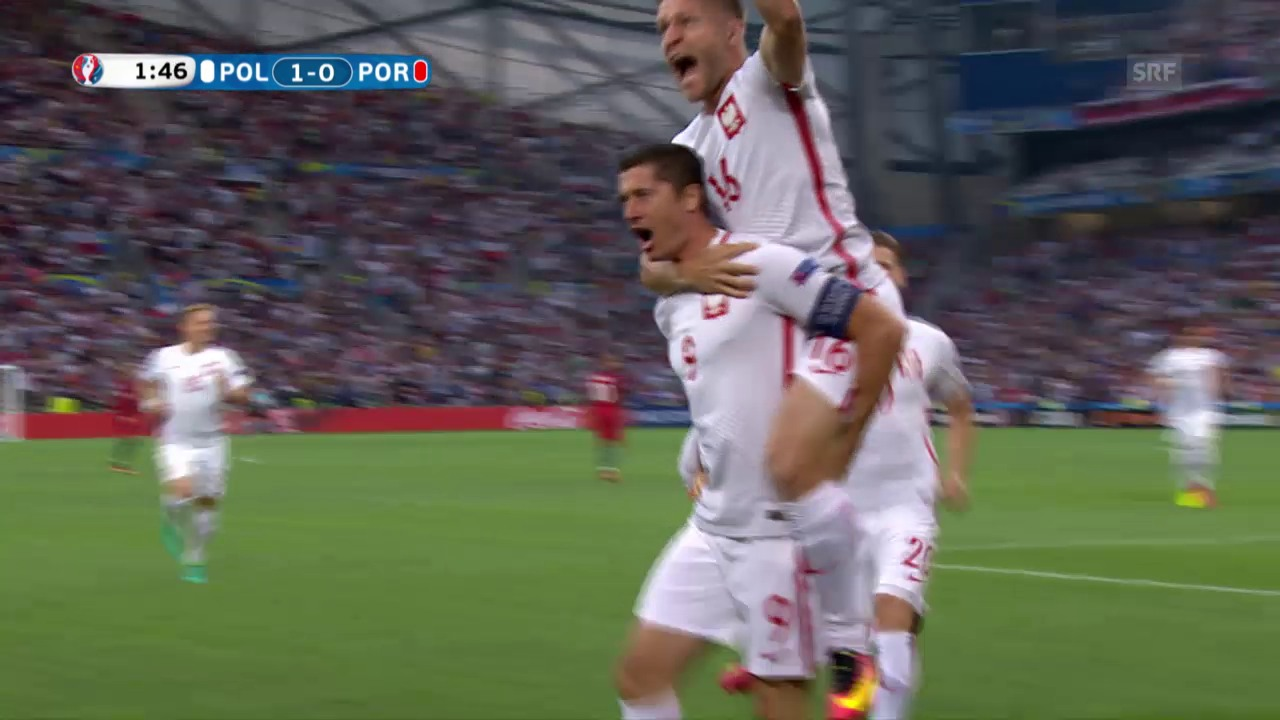 Lewandowski lässt Polen nach 98 Sekunden jubeln