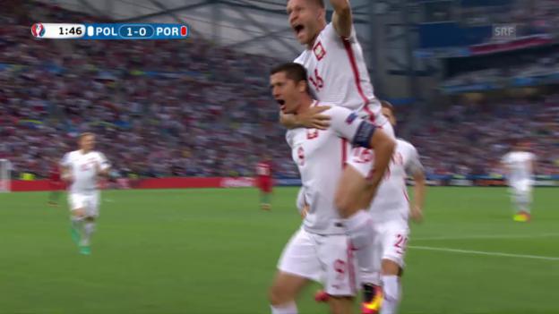 Laschar ir video «Lewandowski lässt Polen nach 98 Sekunden jubeln»