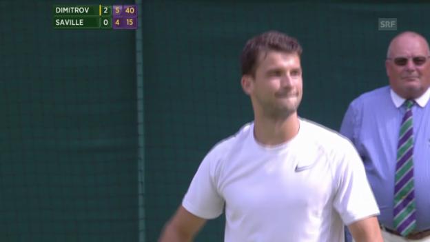 Video «Tennis: Wimbledon, Dimitrov-Saville, entscheidende Ballwechsel» abspielen