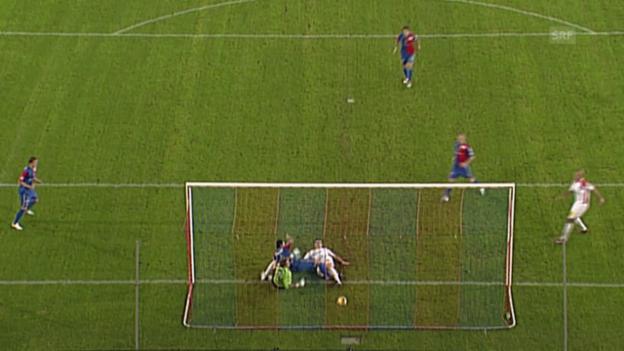 Video «Fussball: Super League, Basels Mile Sterjovski trifft gegen Sion nach 13 Sekunden» abspielen