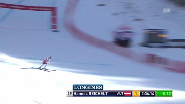 Video «Ski Alpin: Abfahrt Wengen, Fahrt Reichelt» abspielen