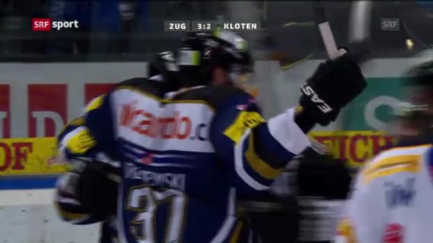 Video «Eishockey: Zug - Kloten (sportaktuell)» abspielen