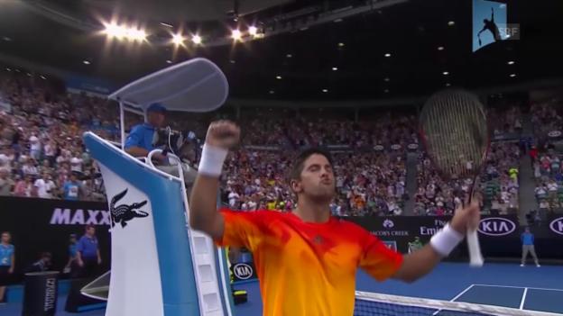 Video «Verdasco eliminiert Nadal in Runde 1» abspielen