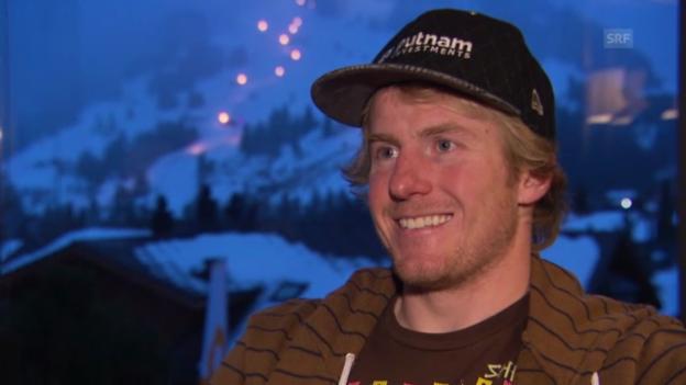 Video «Ski: Interview mit dem US-Amerikaner Ted Ligety vor dem Riesenslalom in Adelboden» abspielen