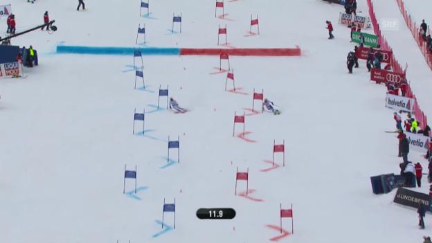 Video «Ski alpin: WM 2015 in Vail/Beaver Creek, Team-Event, Kleiner Final Schweiz - Schweden» abspielen