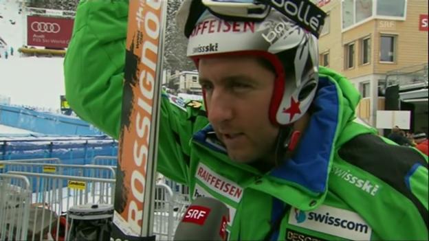 Video «Schweizer Hoffnungsträger an der Super-Kombi in Wengen» abspielen