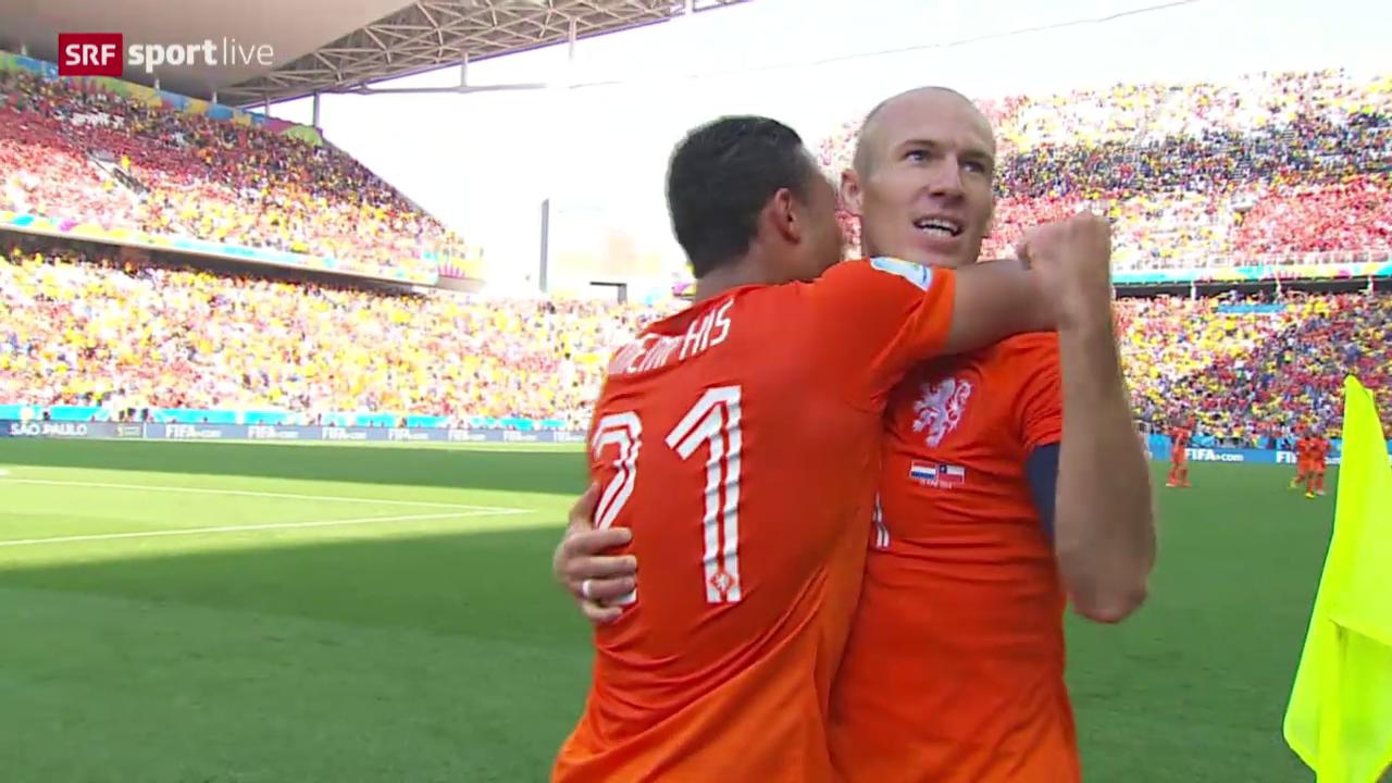 Fussball: FIFA WM 2014, Spielbericht Niederlande - Chile